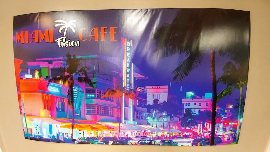 Neon Lights Poster at Miami Fusion Cafe