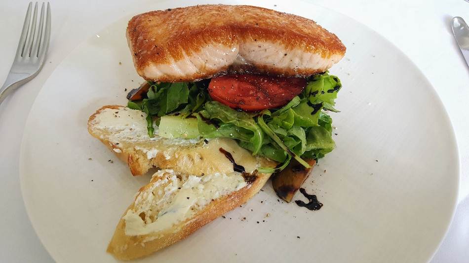 Pan Seared Sturgeon Bank Salmon at Galley and Garden