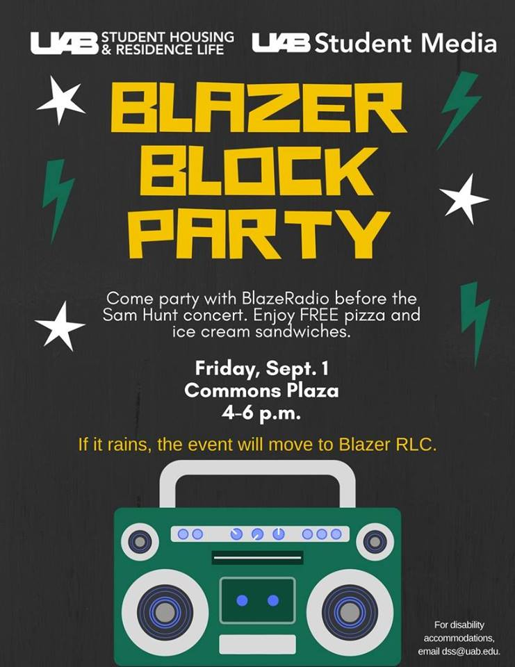 UAB Blazer Block Party