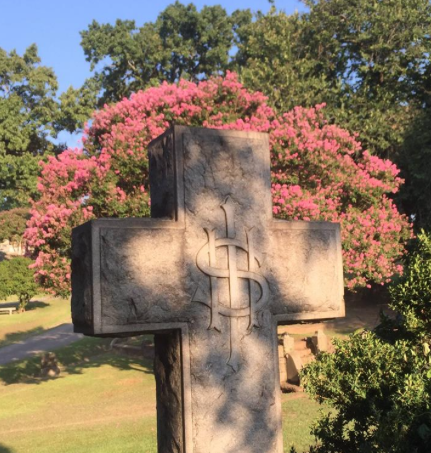 Oak Hill Cemetery Cross Tombstone