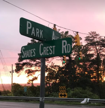 Park and Shades Crest Street Sign