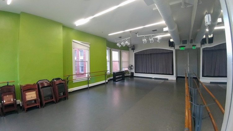 Dance, Ballet, and Theatre Room inside ArtPlay Birmingham