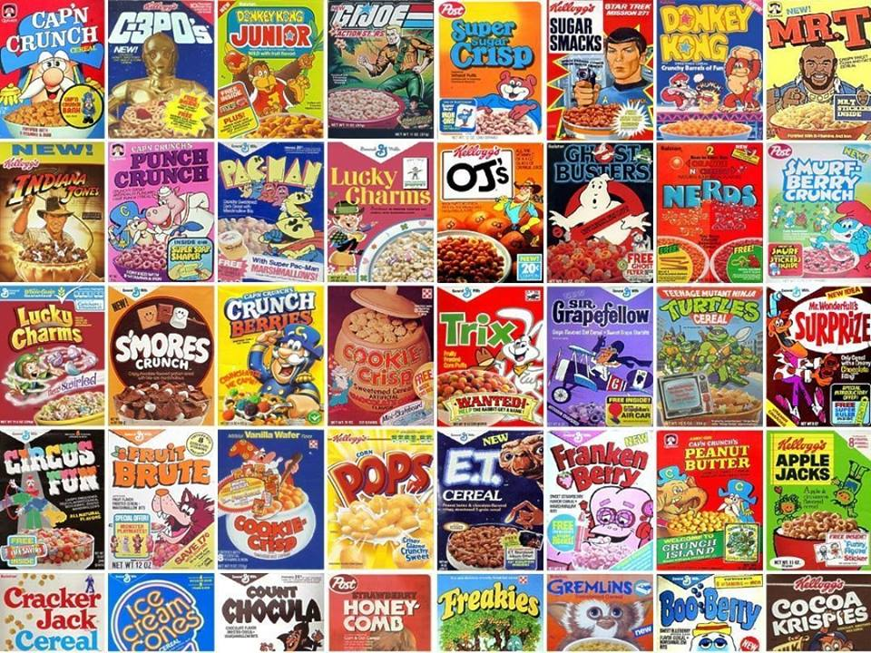 Cereal Adventure Brunch at Saturn Birmingham Vintage Cereal Boxes