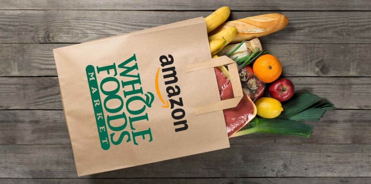 Amazon Whole Foods Grocery Bag with Groceries