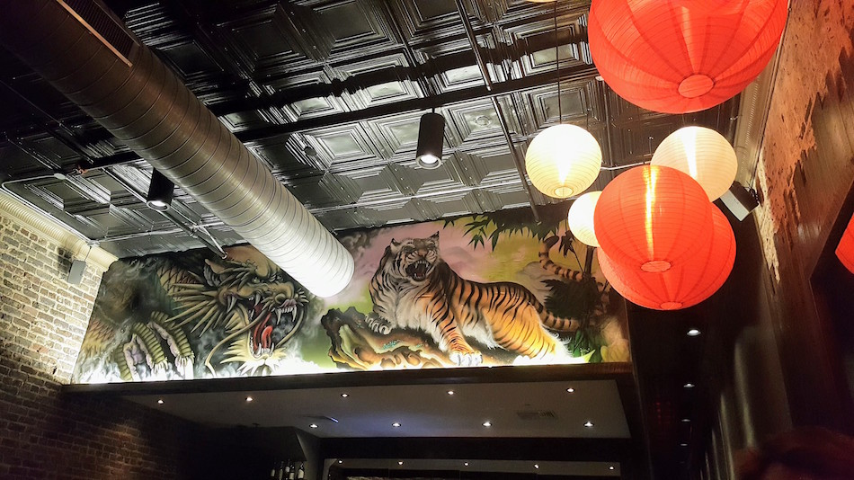 EastWest Birmingham Tiger Dragon Mural