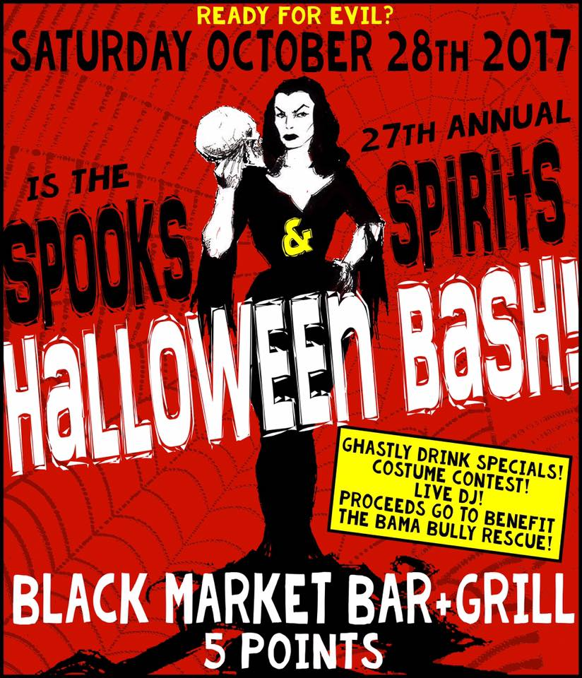 Spooks & Spirits Halloween Bash Black Market Bar 5pts