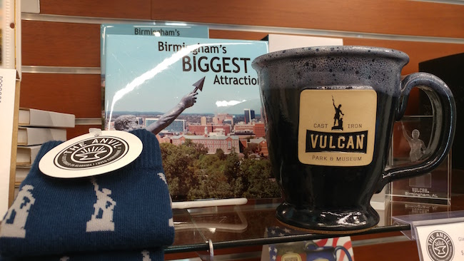 Vulcan Park and Museum Anvil Gift Shop Coffee Mug and Socks