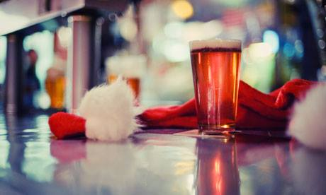 Beer and Santa Hat at Hop City