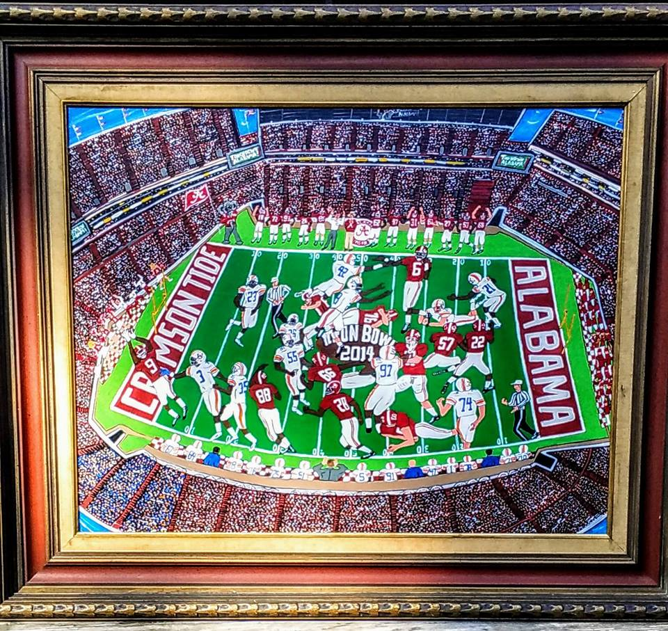 Craig Legg Iron Bowl Art