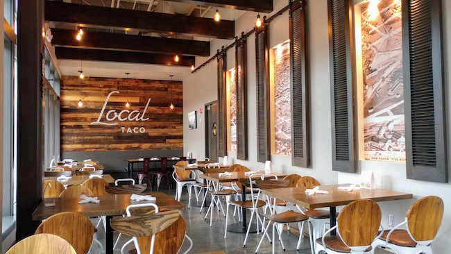 Local Taco Birmingham Interior Seating