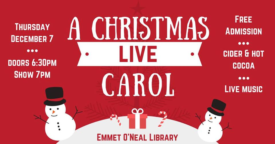 Emmet O'Neal Library Christmas Carol
