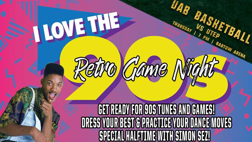 UAB Mens Basketball 2018 90's Night