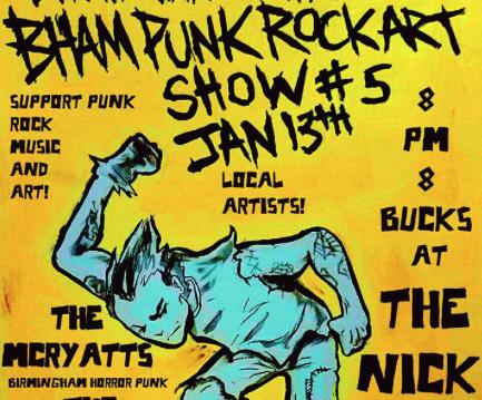 Bham Punk Rock Art Show #5