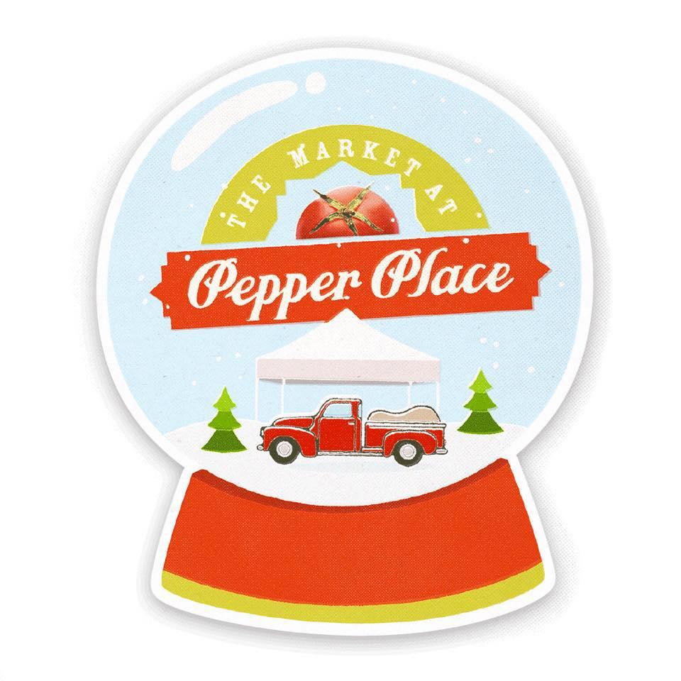 Pepper Place Winter Market Snow Globe