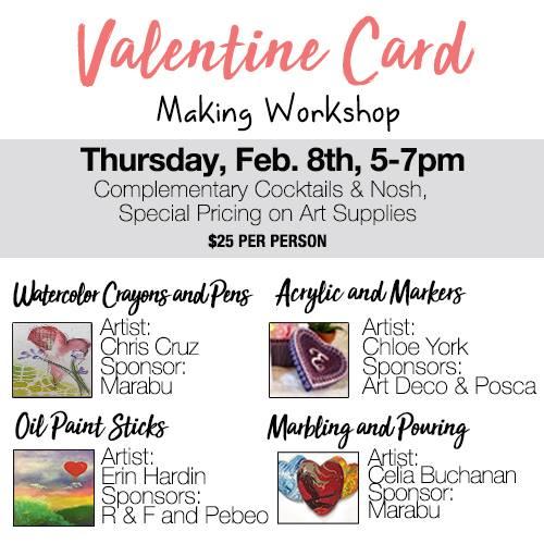 Valentine Card Making at Forstall Birmingham