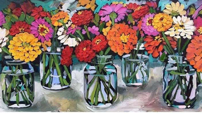 Jayne Morgan Painting of Flowers