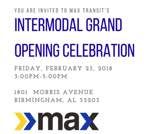 MAXX Intermodal Amtrak Bham Grand Opening