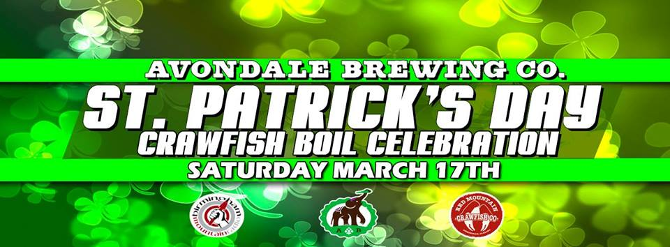 St. Patrick's Day Crawfish Boil at Avondale Brewing