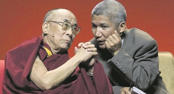 Thupten Jinpa with the His Holiness Dalai Lama