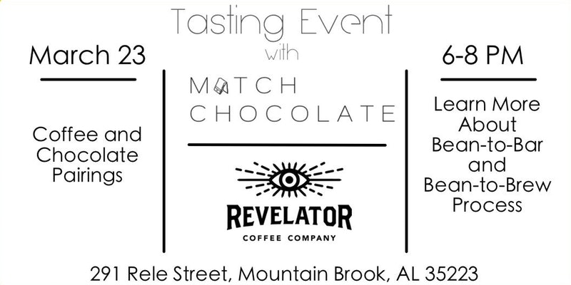 Match Chocolate Revelator Coffee tasting