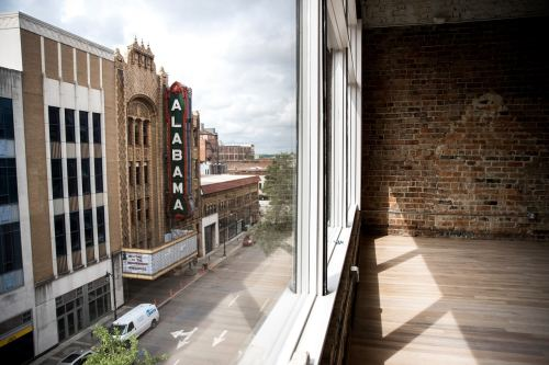 View of Alabama Theatre in Birmingham from the Covalence.io office courtesy of BhamNow