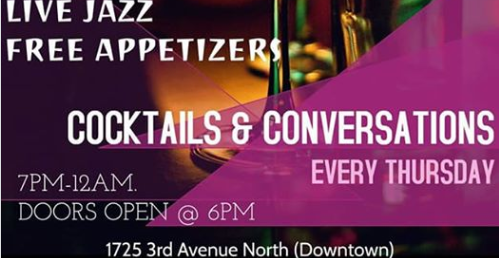 Live Jazz Cocktails and Conversations