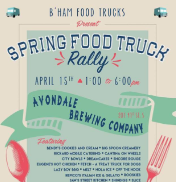 Spring Food Truck Rally at Avondale Brewing Co.