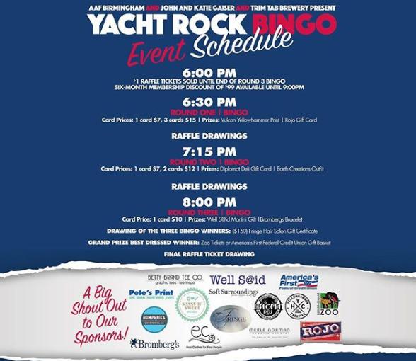 Yacht Rock Bingo