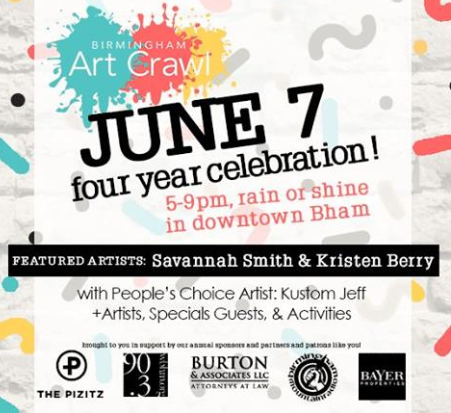 Birmingham Art Crawl 4yr Celebration