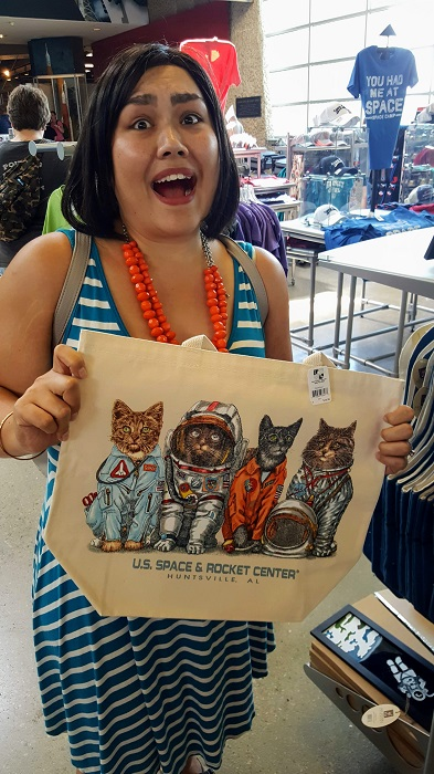 Cat Tote at the Space and Rocket Center