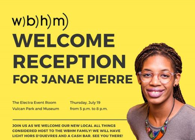 Welcome Janae Pierre to WBHM
