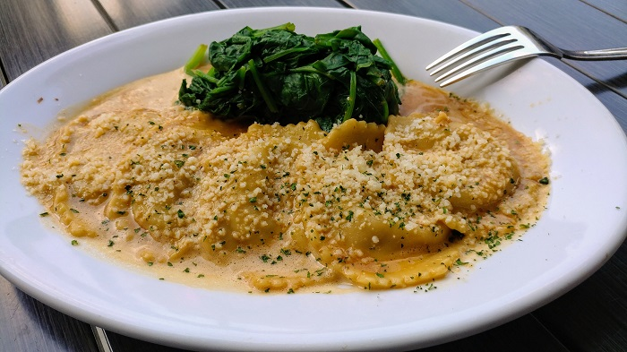 Ravioli at Ruth's Chris