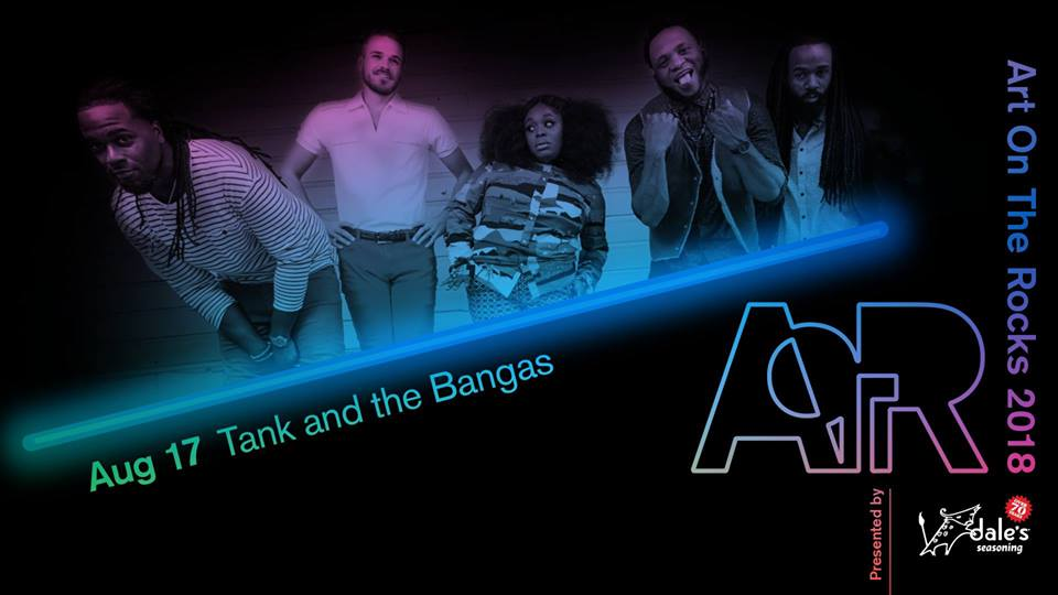 Tank and the Bangas Art on the Rocks