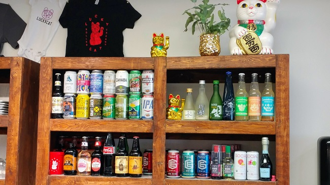 Lucky Cat Beer Selection