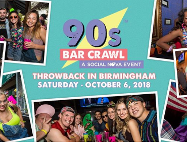 90s Bar Crawl Birmingham