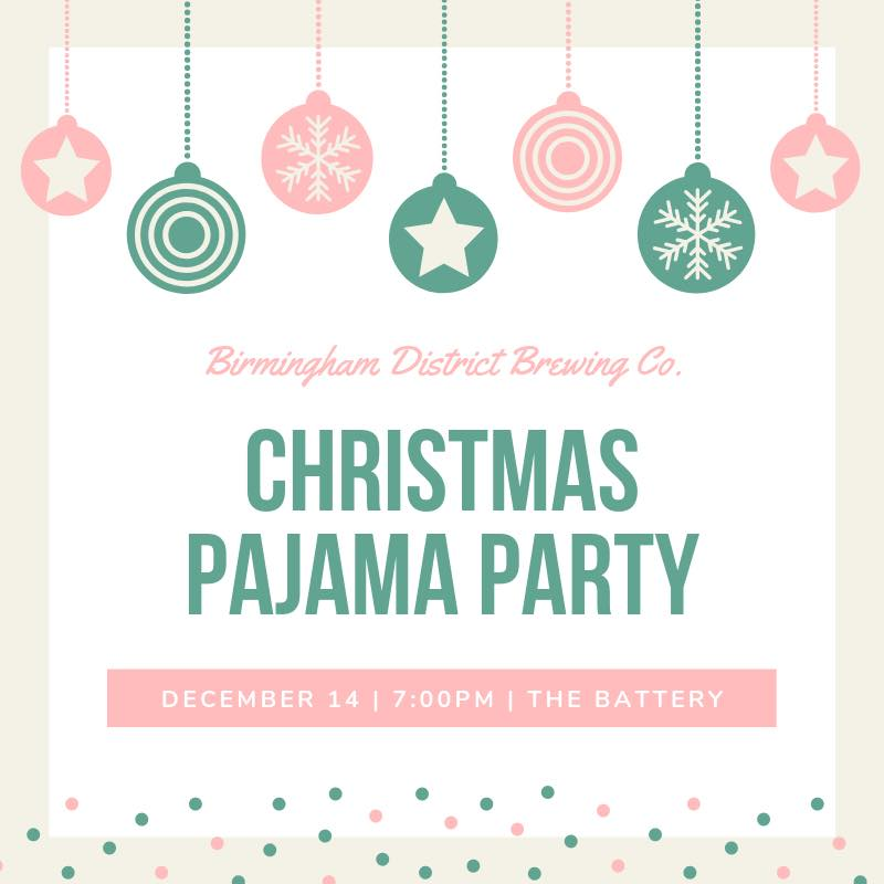 District Brewing Christmas PJ party