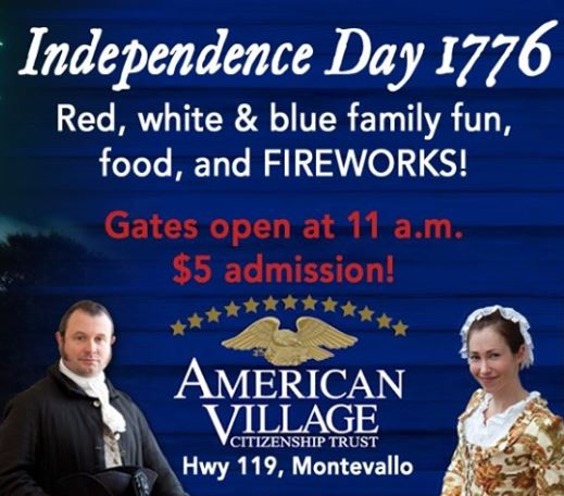 American Village Independence Day 1776