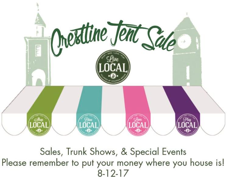 Crestline Tent Sale