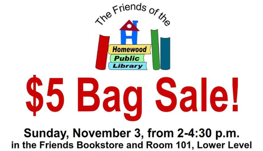 $5 Bag Sale Homewood Library