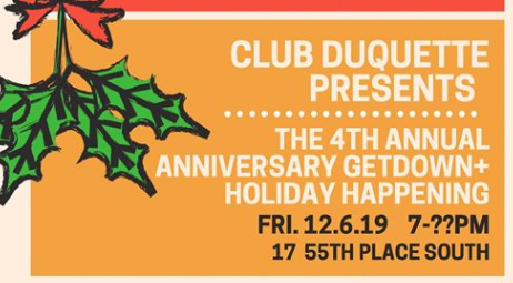 Club Duquette Holiday Get Down