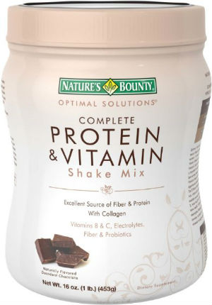 natures bounty optimal solutions protein shake