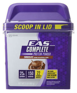 eas chocolate protein complete