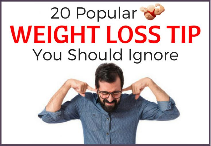 weight loss tips ignore