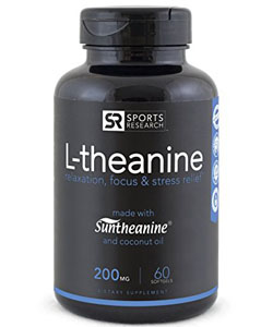 sports research suntheanine supplement