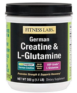 fitness labs german creatine and l glutamine supplement