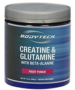 bodytech creatine and glutamine with beta alanine