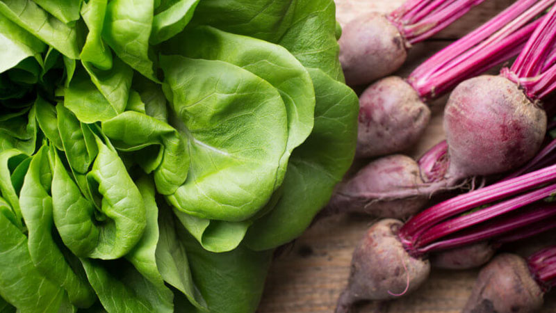 spinach beetroot