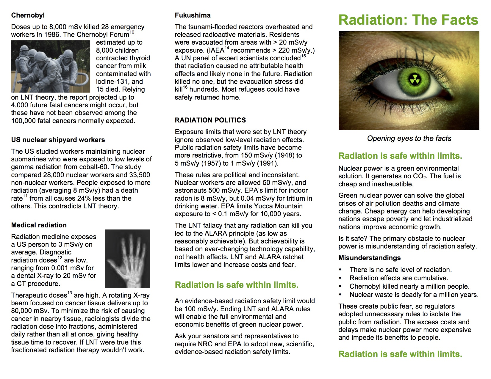 Getting More Brochures Radiation The Facts