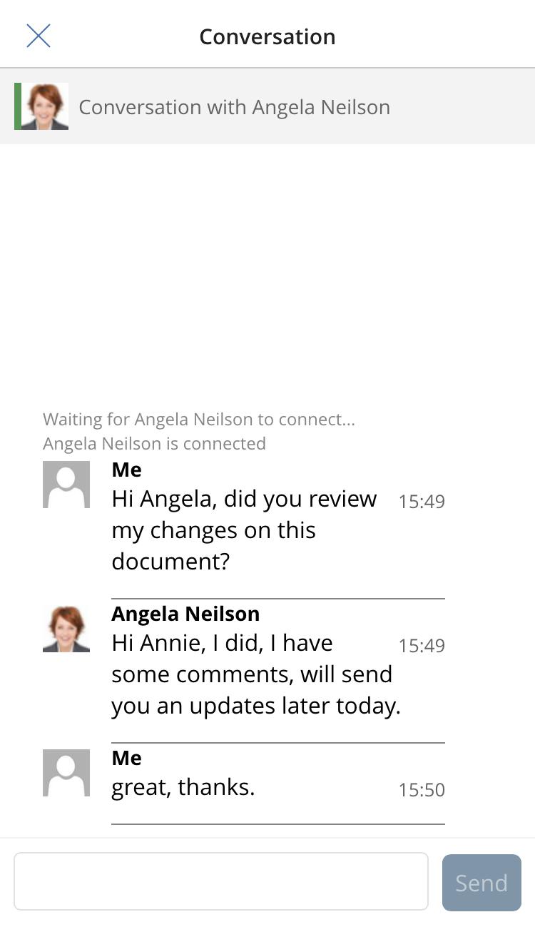 Skype conversation in harmon.ie