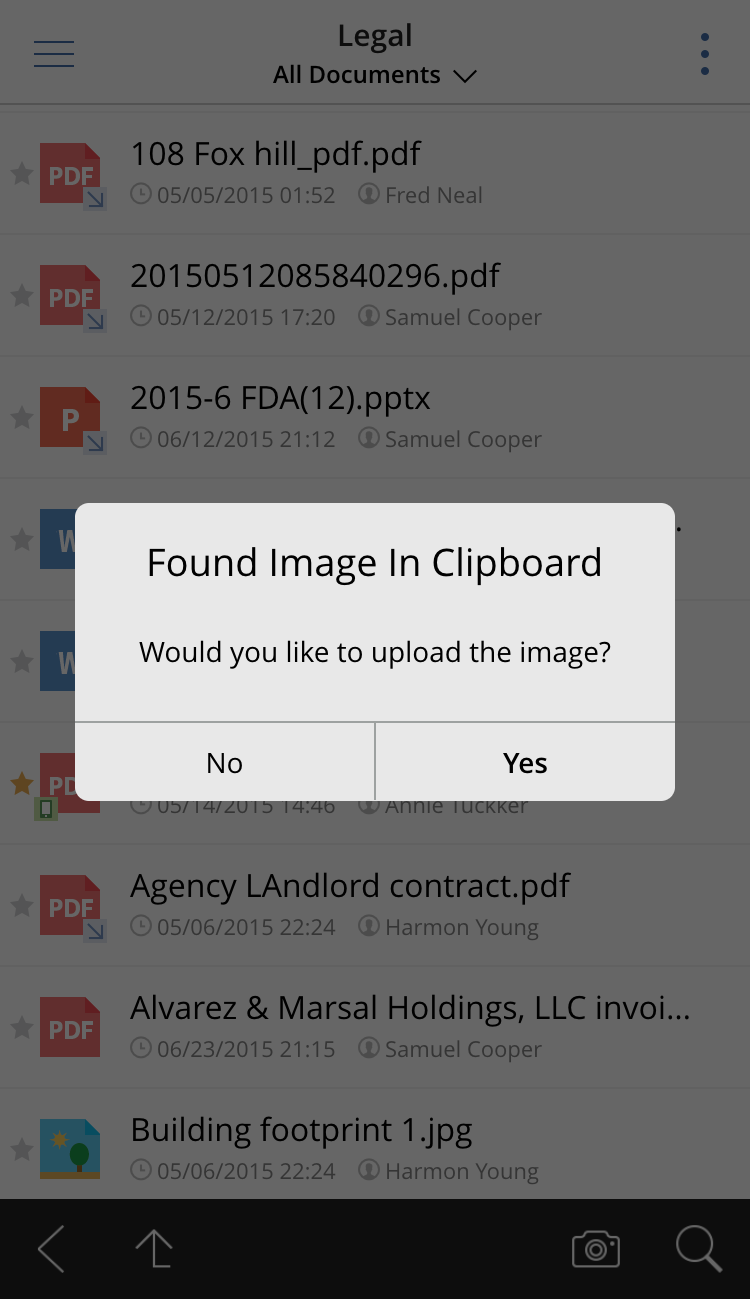 Description: Uploading an image to SharePoint